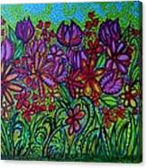 Psychedelic  Flower Garden Canvas Print