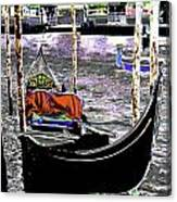 Psychedelic Gondola Venice Canvas Print