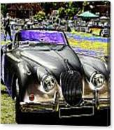 Psychedelic Jaguar Xk120 Classic Car 1 Canvas Print