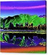 Psychedelic Lake Matheson Ner Zealand 3 Canvas Print