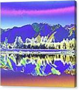 Psychedelic Lake Matheson New Zealand 2 Canvas Print