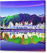 Psychedelic Lake Matheson New Zealand Canvas Print