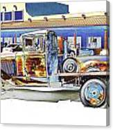 Psychedelic Old Pickup Truck Canvas Print