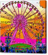 Psychedelic Sky Wheel Canvas Print