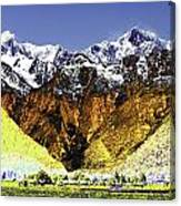 Psychedelic Southern Alps New Zealand Canvas Print