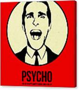 Psycho Poster 1 Canvas Print