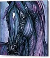 Psychodelic Deep Blue Canvas Print