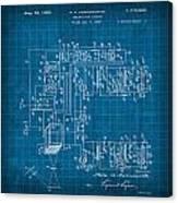 Pt Farnsworth Television Patent Blueprint 1930 Canvas Print