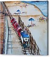 Pt Pleasant Nj Sand Train Canvas Print