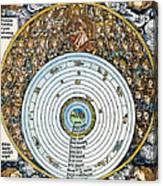 Ptolemaic Universe, 1493 Canvas Print