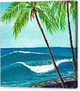 Puako Sea Wall Canvas Print