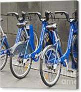 Public Shared Bicycles In Melbourne Australia Canvas Print