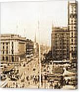 Public Square Cleveland Ohio 1912 Canvas Print