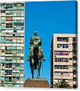 Public Statue Of General Artigas In Montevideo Canvas Print