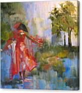 Puddle Ballerina Canvas Print