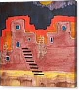 Pueblito Original Painting Canvas Print