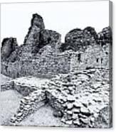 Pueblo Bonito In Black Canvas Print