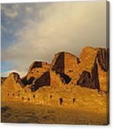 Pueblo Del Arroyo At Sunset II Canvas Print