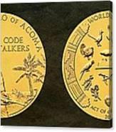 Pueblo Of Acoma Tribe Code Talkers Bronze Medal Art Canvas Print