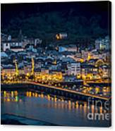 Puentedeume View From Cabanas Galicia Spain Canvas Print