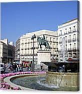 Puerta Del Sol In Madrid Canvas Print
