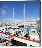 Puerto Banus Marina In Spain Canvas Print