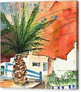 Puerto Carmen Sunset In Lanzarote Canvas Print