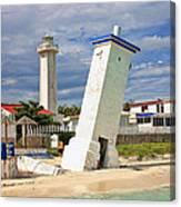 Puerto Morelos Lighthouses Canvas Print
