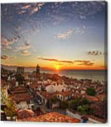 Puerto Vallarta Sunset Canvas Print