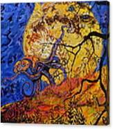 Puffer Fish Rising Canvas Print