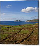 Puffin Island From The Skelligs Ring Canvas Print