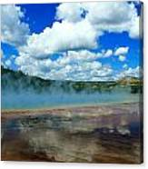 Puffy Clouds And Hot Springs Canvas Print