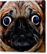 Pug Dog - Electric Canvas Print