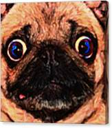 Pug Dog - Painterly Canvas Print
