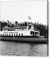 Puget Sound Ferry Boat Canvas Print