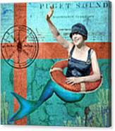 Puget Sound Mermaid  Canvas Print