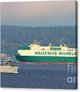 Puget Sound Shipping Waterway Canvas Print