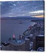 Puget Sound Sunset Illumination Canvas Print