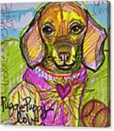 Puggle Puppy Love Canvas Print