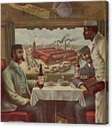 Pullman Compartment Cars Ad Circa 1894 Canvas Print