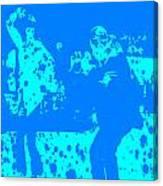 Pulp Fiction Dance Blue Canvas Print