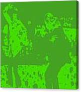 Pulp Fiction Dance Green Canvas Print