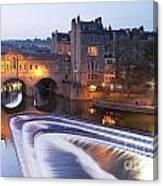 Pulteney Bridge And Weir Bath Canvas Print