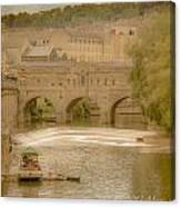 Pulteney Bridge In Bath Canvas Print