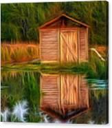 Pump House Reflection Canvas Print