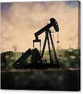 Pumpin Oil Canvas Print