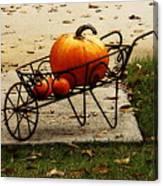 Pumpkin Barrow Canvas Print