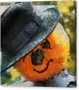 Pumpkin Face Photo Art 06 Canvas Print