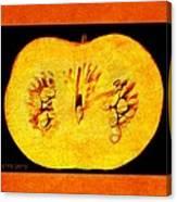 Pumpkin Half Canvas Print
