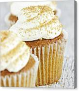 Pumpkin Spice Cupcake With Cream Cheese Icing Canvas Print